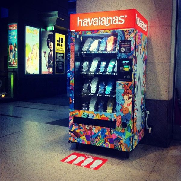 The Havaianas Vending Machine - This could come in handy, as I have been away from home when one of my flip-flops broke (two occasions).