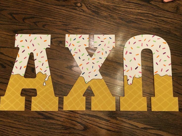 AXO ice cream letters