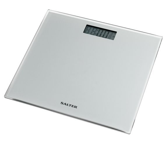 Buy Salter Glass Silver Electronic Scale at Argos.co.uk, visit Argos.co.uk to shop online for Bathroom scales, Bathroom accessories, Home furnishings, Home and garden was £19.99 now £9.99