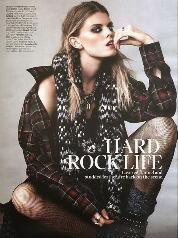 grunge plaid shirt editorial
