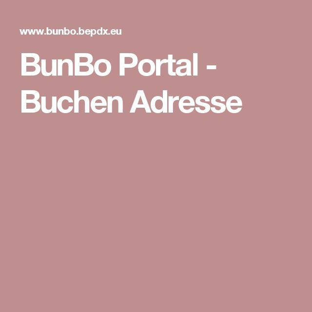 BunBo Portal - Buchen Adresse