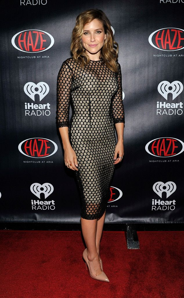 Sophia Bush keeps it sophisticated, but sexy, in this mesh number.