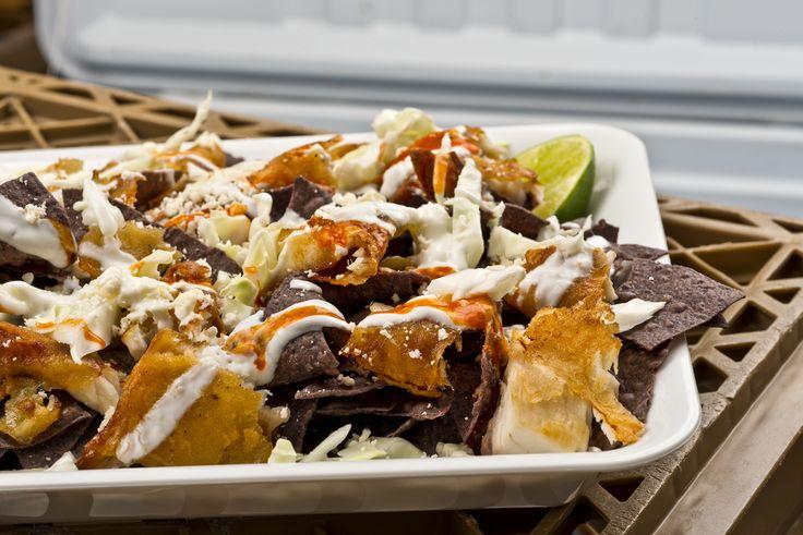 Baja Fish Nachos Recipe | Food Republic | Foody Stuff | Pinterest