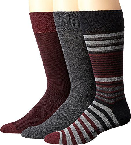 Cole Haan MultiStriped Crew 3Pack BlackMid GreyGraphite HeatherPort RoyaleBlack Mens Crew Cut Socks Shoes * Details can be found by clicking on the image.Note:It is affiliate link to Amazon.