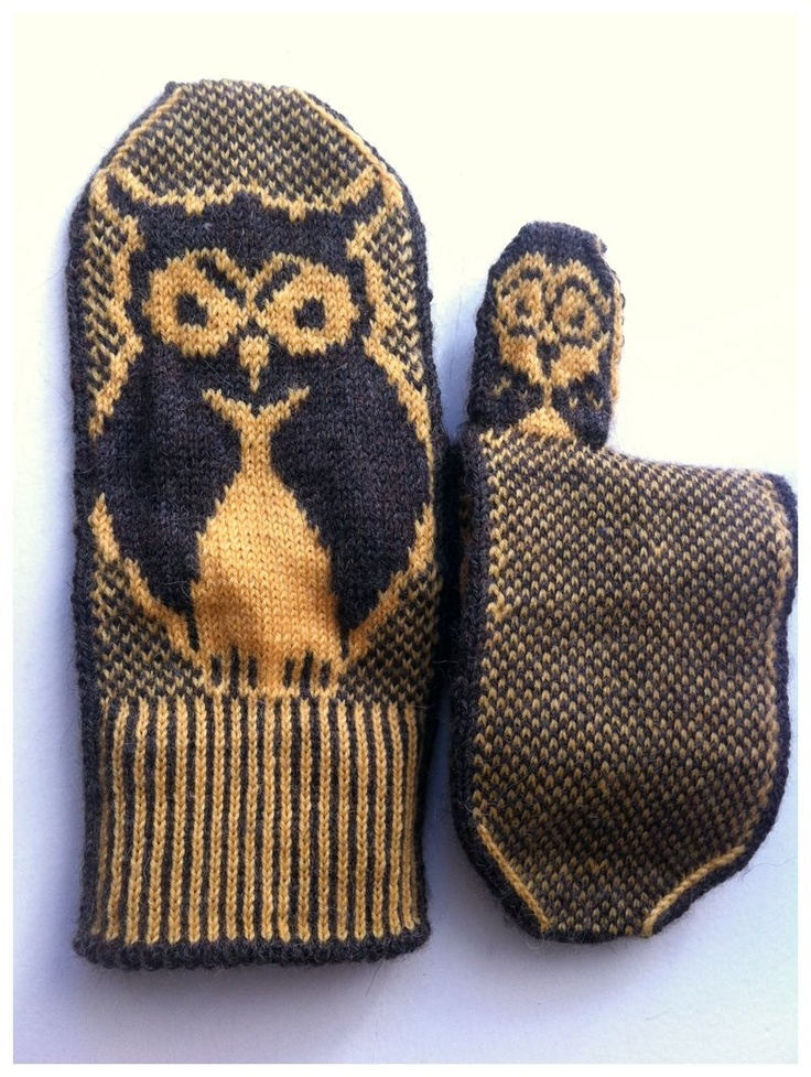 236 best ugglor images on Pinterest   Owl, Gloves and Knit mittens