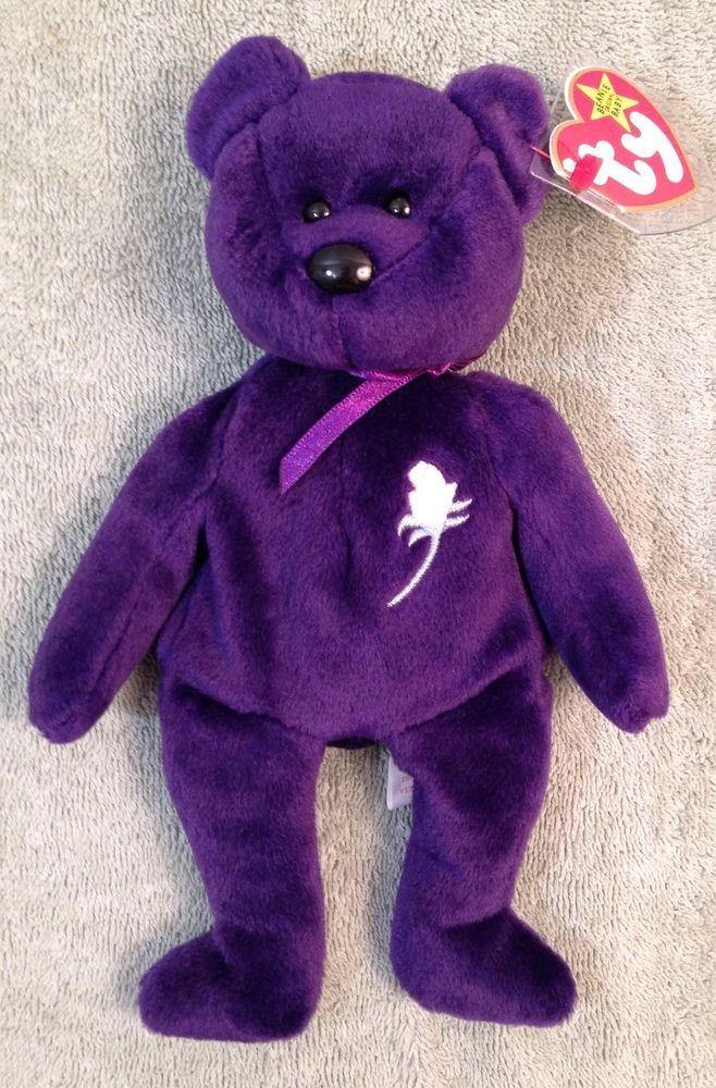 Princess Beanie Baby Bear! Mint Extremely Rare Fareham Hants Display Case  5fba48ab035