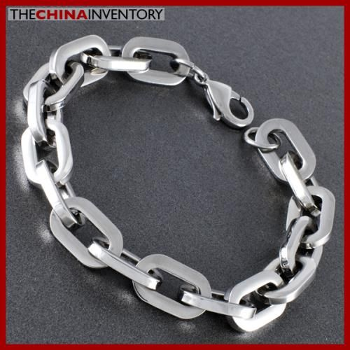 9` STAINLESS STEEL BIG OVAL CHAIN BRACELET B0710