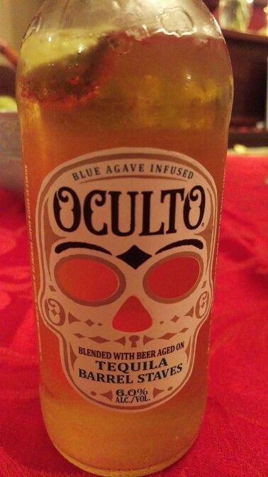 Oculto, Tequila infused cervesa. Broken barrel brewing co. Huston TX