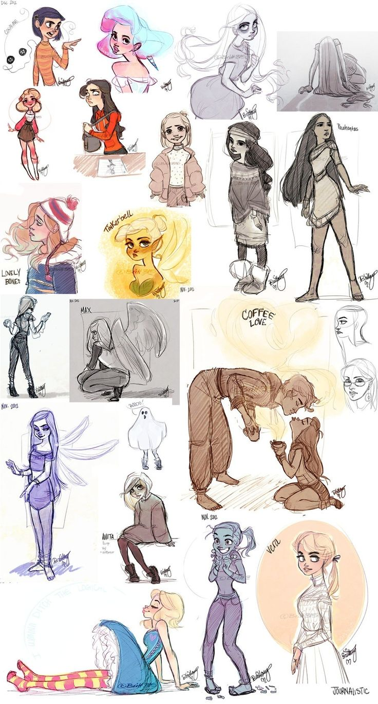 Sketches by britt315...her deviantArt account has got some other great stuff too!