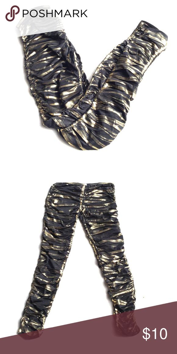 Black and Gold Leggings Black and Gold Leggings have a scrunchie style. KTOO Pants Leggings