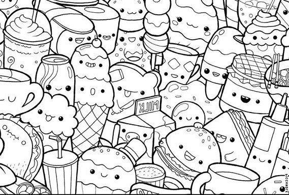 Dibujos Kawaii Para Imprimir Y Colorear Doodles Bonitos Paginas Para Colorir Paginas Para Colorir Para Adultos