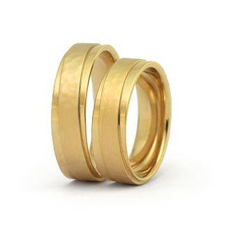 """Trauringe : Gelbgold """"Hammerschlag"""" : g113 Hochwertige Eheringe in 585 Gold Damenring, Herrenring: 6mm breit, 1,7mm stark Oberfläche: matt / poliert"""