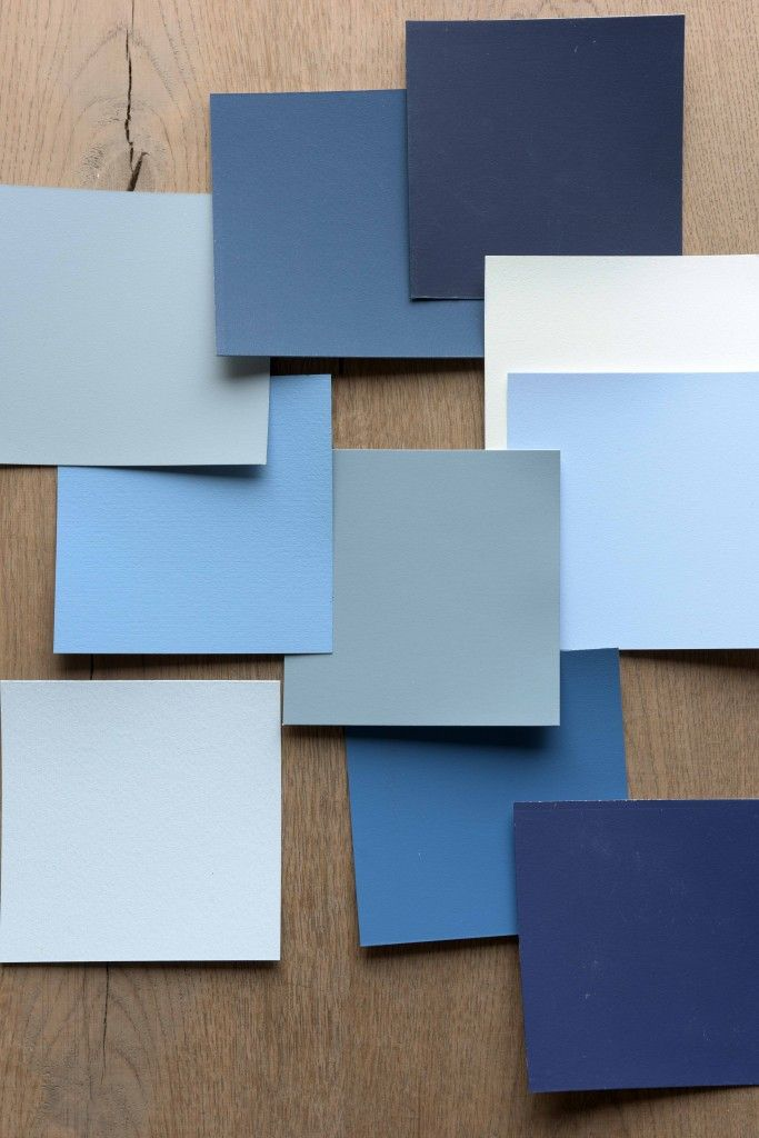 Blue colour palette that complements Dulux's Denim Drift paint colour