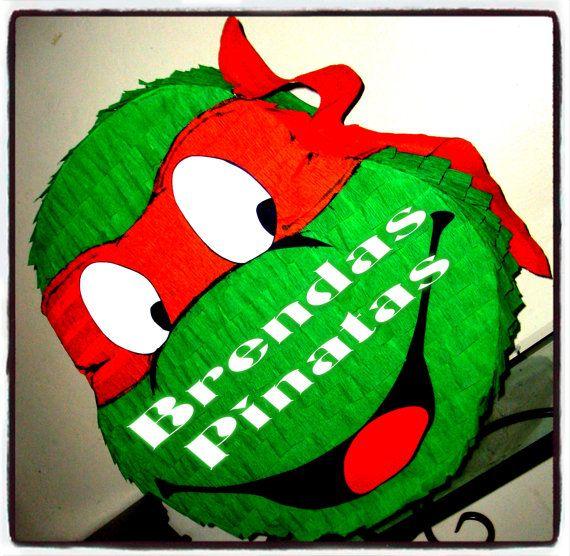 Teenage Mutant Ninja Turtle Pinata 80's TMNT By Brendas Pinatas