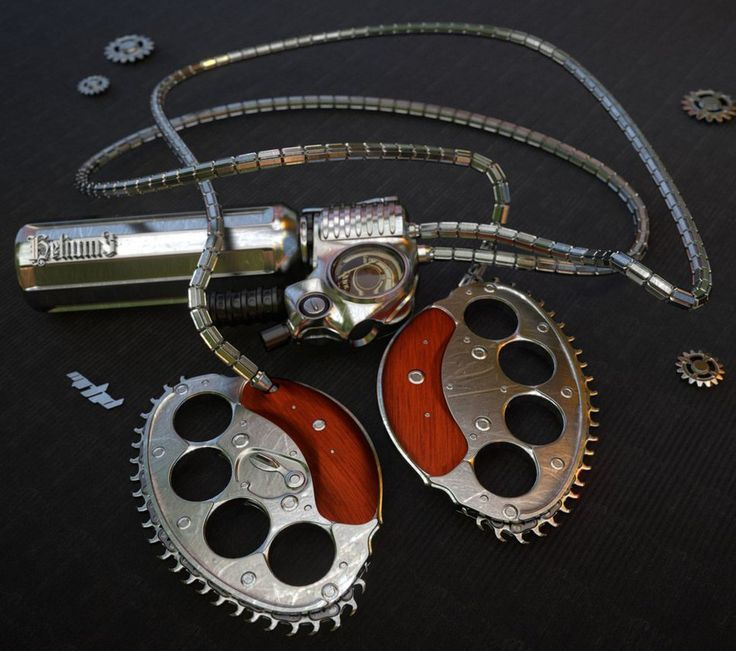 Helium3 powered chainsaw knuckles for people who are not afraid to get their hands dirty. helium3 does not exist yet, it is out of a sci fi story. Tank and engine can be clipped on a belt under a j...
