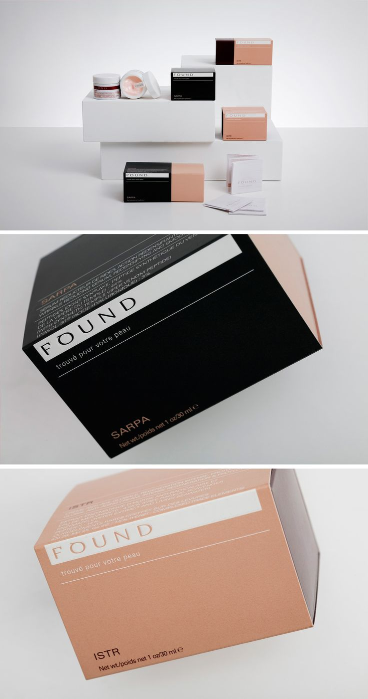 found cosmetics packaging by campbell hay