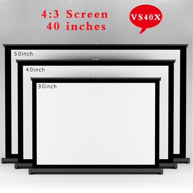 VS40X Top Quality 40inch 4:3 Convenient Projector Screen Portable Floor Screen Stand Proyector Curtain For Watching Beamer