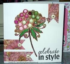 Woodware bubble bloom card ideas - Google Search