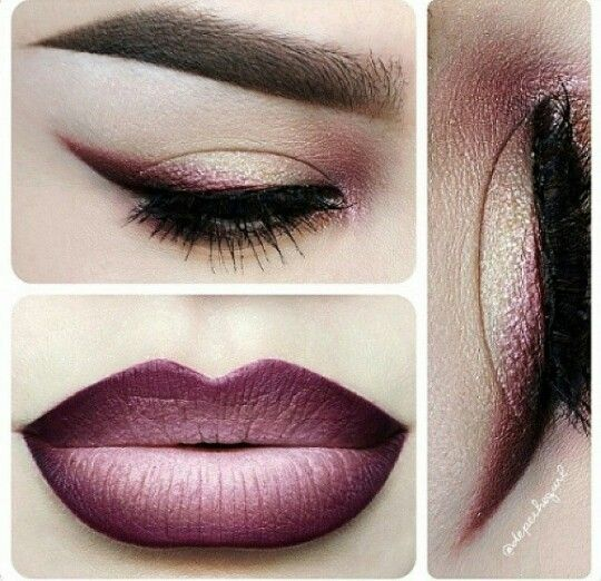 Purple sunset hue make up