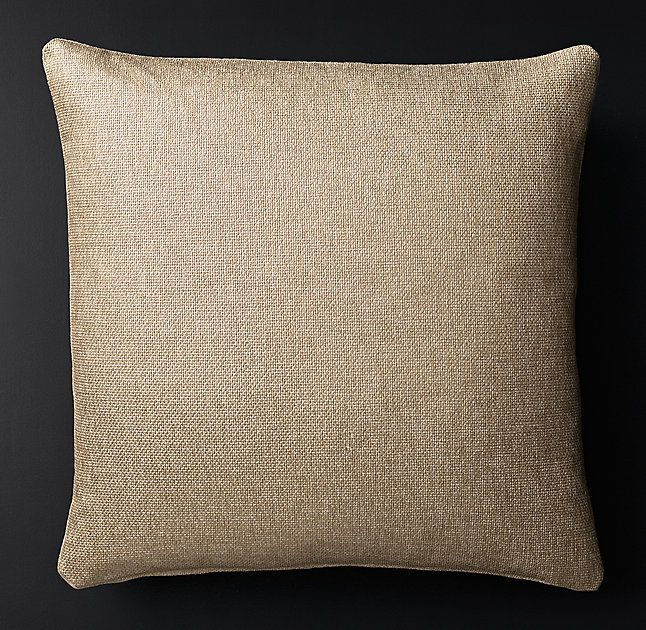 Luxe Metallic Basket Weave Pillow Cover - Square