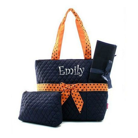 Best 25 personalized diaper bags ideas on pinterest baby girl personalized diaper bag quilted baby tote changing pad negle Image collections