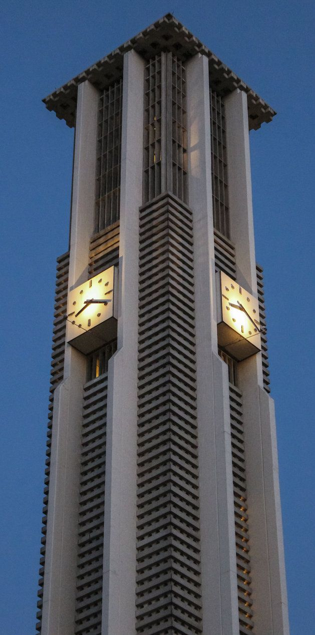 A photograph of the University of California, Riverside famous clock tower! Congratulation class of 13!