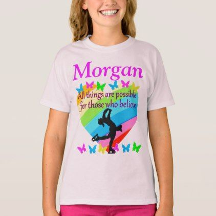 SKATER DREAMS PERSONALIZED T SHIRT  $18.95  by MySportsStar  - cyo diy customize personalize unique
