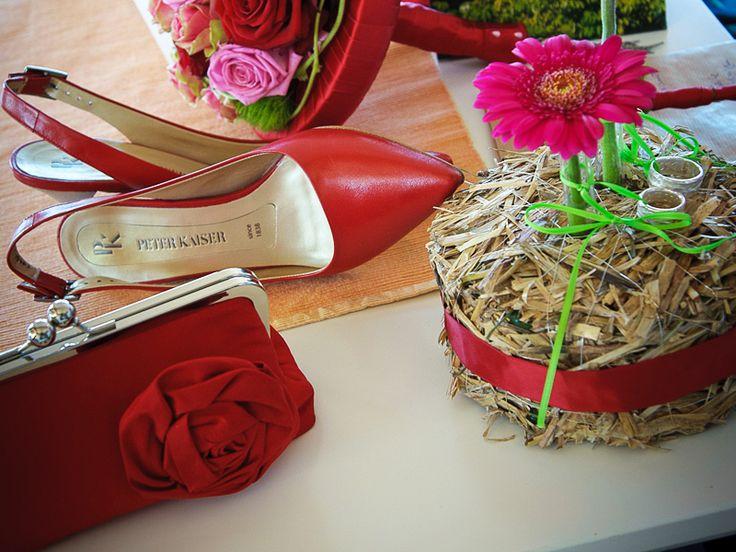 Brauttasche aus Seide in Rot
