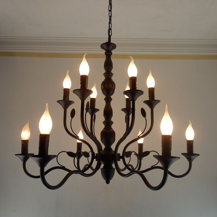 17 Best ideas about Black Iron Chandelier – Rustic Wrought Iron Chandelier
