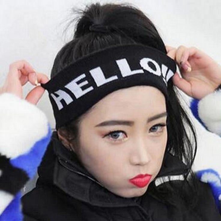 >> Click to Buy << 2016 New Korea Fashion Fall Knitting Letter HELLO Women Men Casual Sports Headband Wholesale  Winter Headwear Free Size #Affiliate