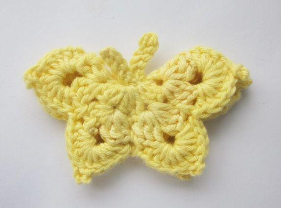 Heklet gul sommerfugl.
