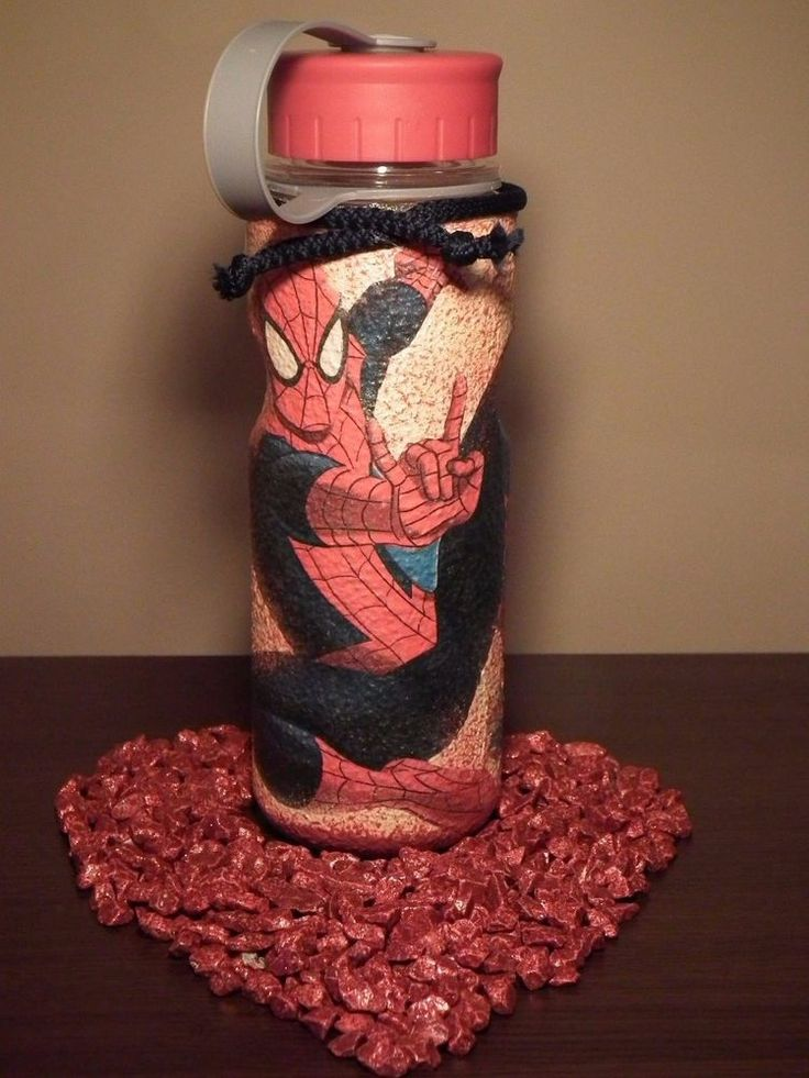 Unique Spider-man handmade decor plastic flask, free delivery type 1. | Home & Garden, Home Décor, Bottles | eBay!