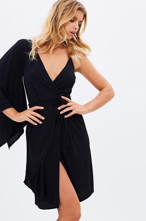 GARDEN PARTY DRESS - Black - Siss & Co.