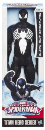 "Black Suit Spider-man Ultimate Spider-man 12"" Titan Hero Action figure"