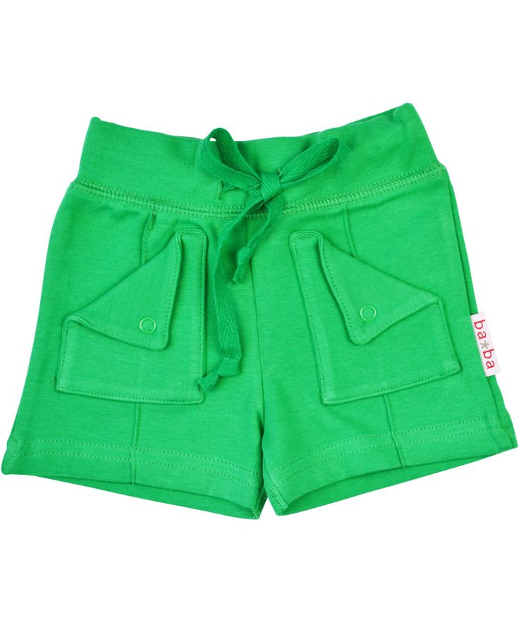 Baba Babywear green retro styled shorts. baba-babywear.en.emilea.be