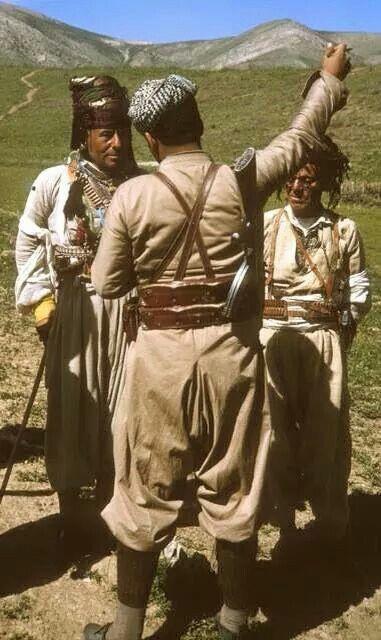 Kurdish men in their traditional costume.  Northern Iraq, 1965.  Photographer: William Carter.