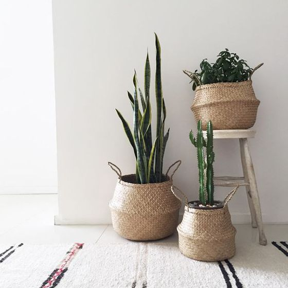 Bloomingville seagrass basket mand - The Shop Herentals