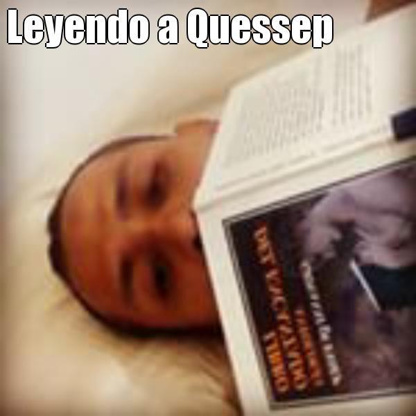 Leyendo a Quessep  (courtesy of @Pinstamatic http://pinstamatic.com)