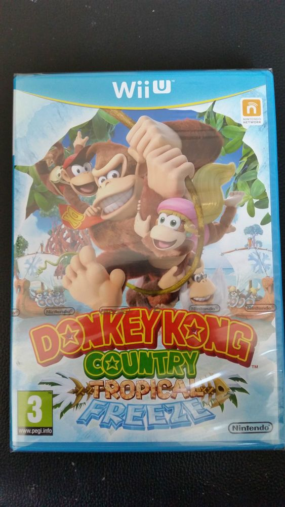 JEUX VIDEO NINTENDO WII U DONKEY KONG COUNTRY TROPICAL FREEZE, NEUF, EN FRANCAIS