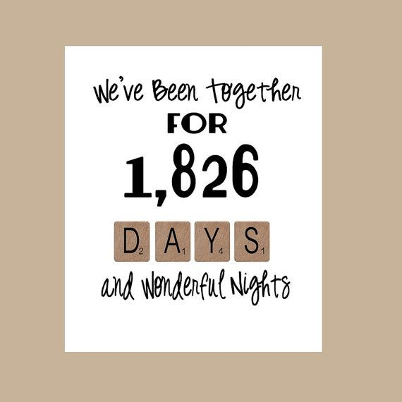 5th Wedding Anniversary Card  2nd Anniversary by DaizyBlueDesigns