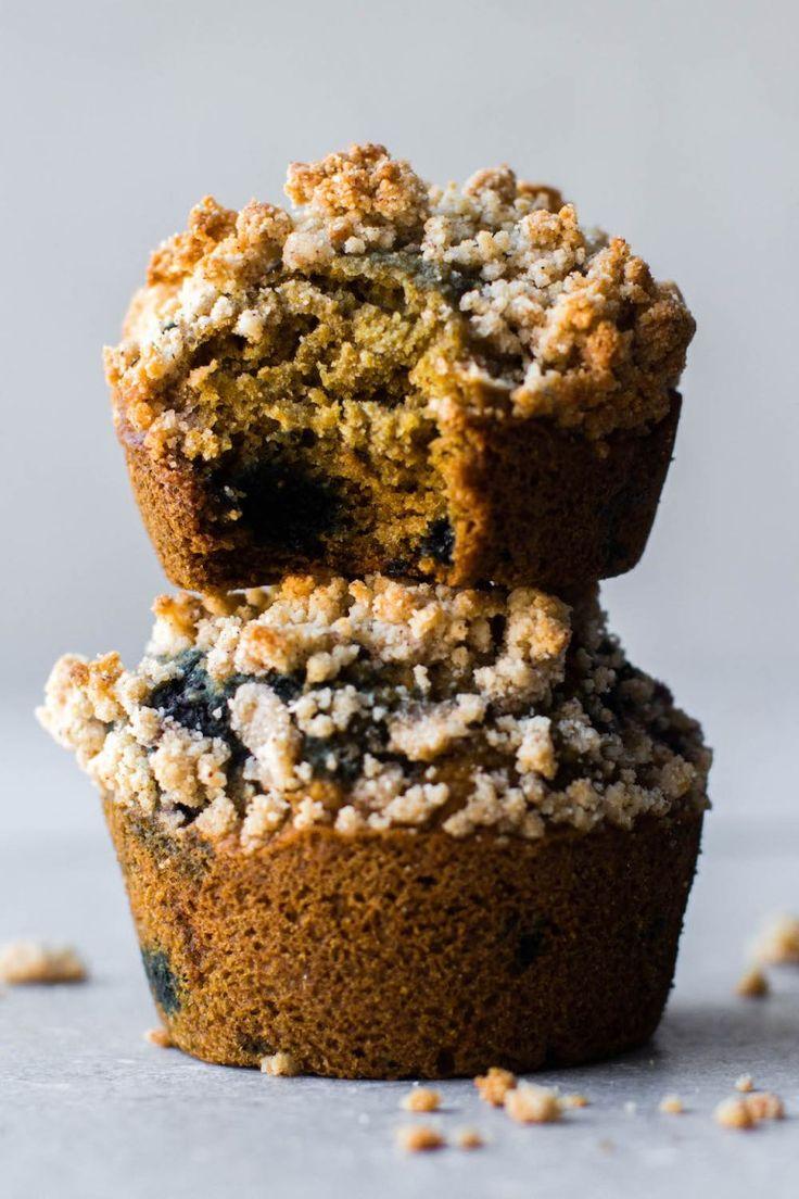 Blueberry Coffee Cake Muffins {vegan, glutenfree, oil
