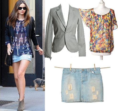 Miranda Kerr Style  | Spódnica, Casucci (butik #Wzorcownia), Bluzka #George (butik Wzorcownia), Żakiet #Mango (butik Wzorcownia)