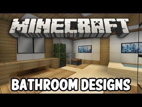 minecraft interior design - bathroom edition - youtube   minecraft