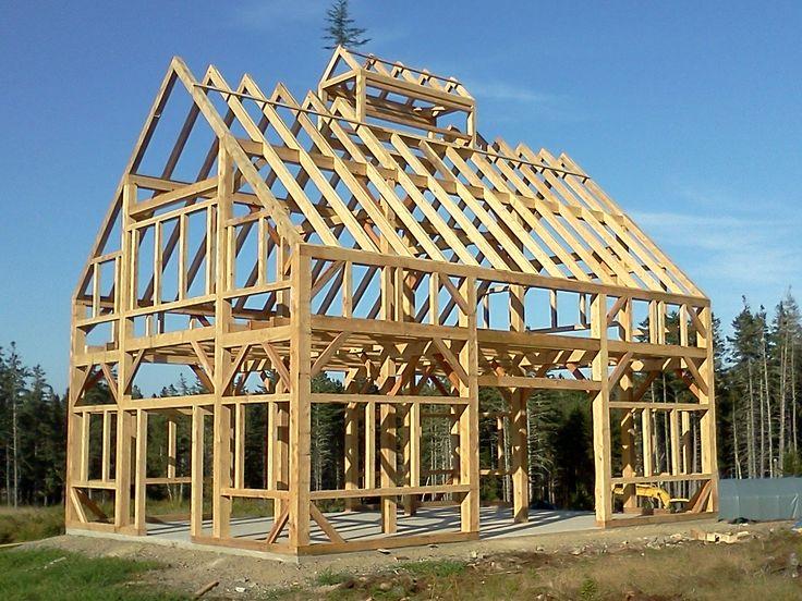 30 X 40 Timber Frame Barn Black Dog Timberworks In