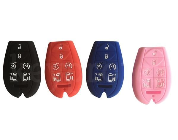 Silicone Protective Key Fob Cover Case For Chrysler Town Country