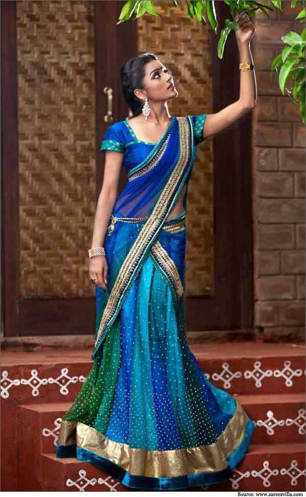 Half sarees are famous in South India for family functions and festivals. They provide the elegance and sophistication associated with a saree. Read more.