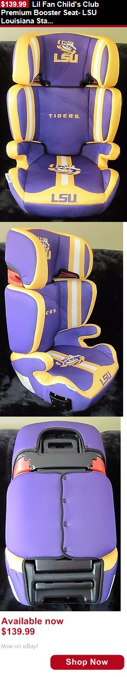 Other Baby Car Safety Seats: Lil Fan Childs Club Premium Booster Seat- Lsu Louisiana State University Tigers BUY IT NOW ONLY: $139.99