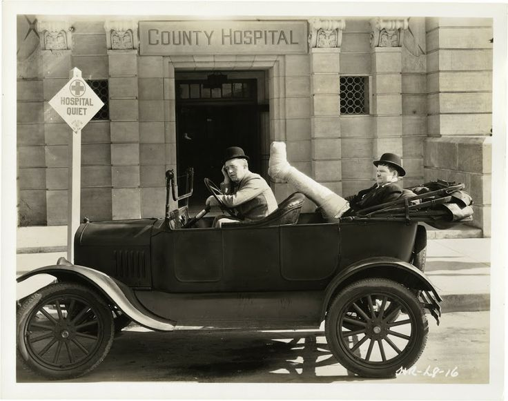 """Laurel and Hardy in """"County Hospital"""" Talking Feature 1932"""