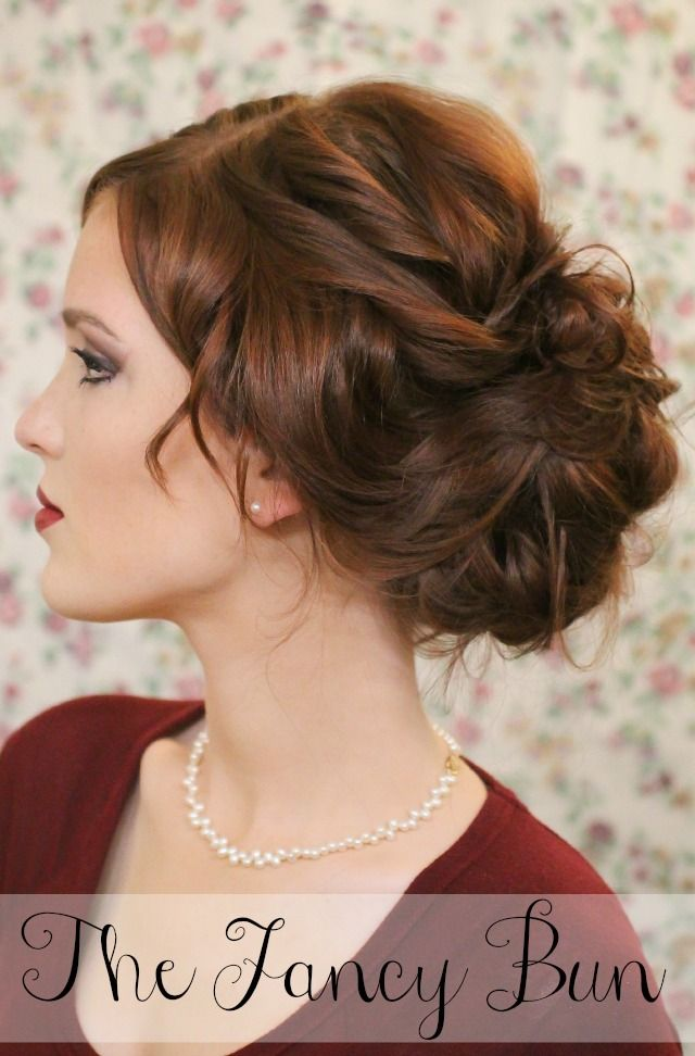 Messy Bun Updo for New Year's Eve
