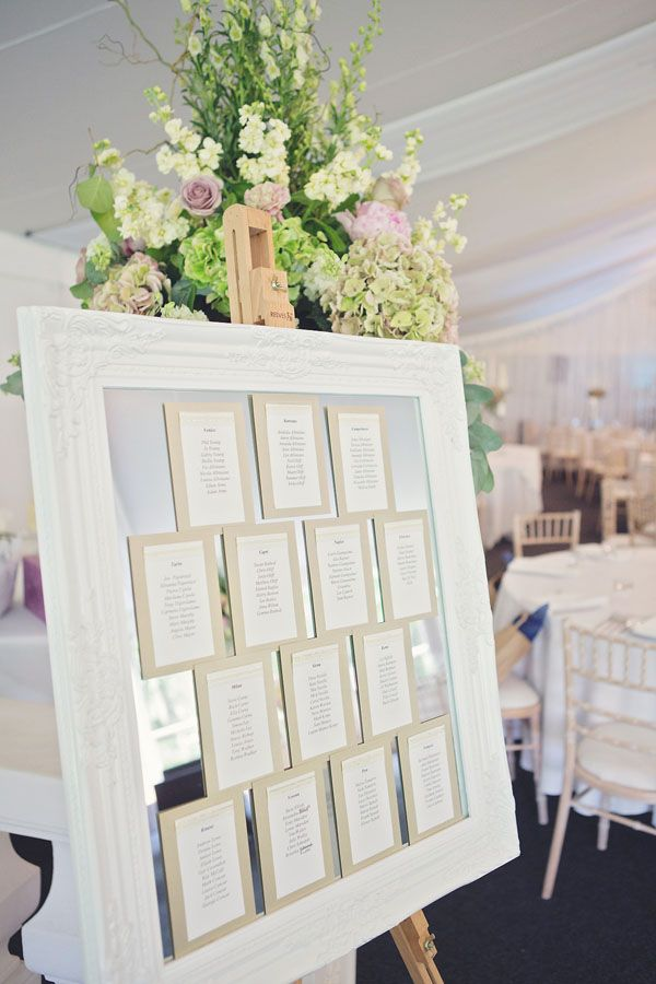simple but classic idea for table plan - and you can use our easel which is supplied FOC